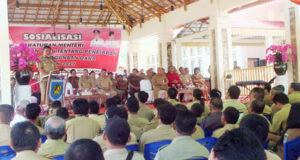 Gubernur Sulut Olly Dondokambey saat memberikan sambutan