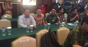 Penjabat Bupati Bolmong Bapak Adrianus Nixon Watung, SH saat menghadiri Pembukaan TMMD ke-98