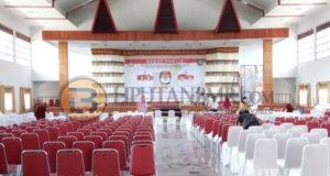 Situasi Gedung Yadika Center untuk persiapan Debat Calon