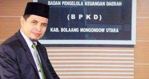 Kepala Badan Pengelola Keuangan Daerah (BPKD) Bolmut, Sirajudin Lasena, SE, M.Ec, Dev